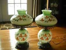 ANTIQUE GONE WITH THE WIND LAMP VINTAGE LIGHTS  PAIR OF LARGE LAMPS