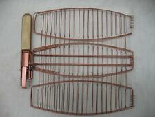 Char-Broil BBQ Tool Accessory Non Stick Triple Fish Grill Basket Copper