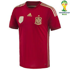 Adidas Authentic Spain Home Adult Soccer Jersey S World Cup 2014 Brazil FIFA NWT