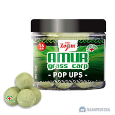 (5,94 €/100g) 80g CARPZOOM Amur GRASS CARP POP UPS BOILIES ∅ 16mm erba carpa