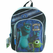 "Backpack 16"" 2-Compartment Monsters University Inc School Bag NWT"