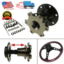 6 BOLT BLACK RED QUICK RELEASE HUB ADAPTER STEERING WHEEL DETACHABLE BOLT ON