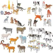 44pcs Plastic Cat, Dog, Sheep, Cattle Farm Yard Animals Model Figure Kids Toys