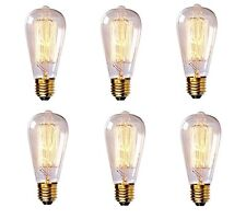 New 6PCS Vintage Loop Carbon Filament Light Bulb Retro Edison Style 60 Watts E27