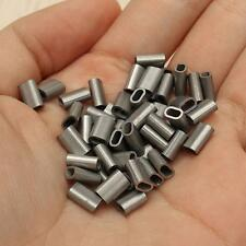50x 304 Stainless Steel Silver Cable Crimp Sleeve for 1/16'' Diameter Wire Rope