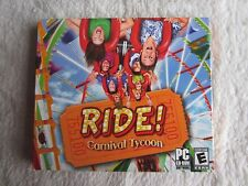 Ride Carnival Tycoon Jewel Case (PC, 2008) - FACTORY SEALED