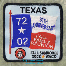 LMH Patch 1972 2002 GOOD SAM CLUB  Fall Samboree Rally  30th Anniv. WACO TX Sams