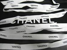 "2 Auth Chanel White Ribbon,1"" wide. Total 142"" inch Long or 3.94 Yards or 360cm"