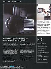 Prospetto Phase One h5 Digital BACK medio formato telecamere 10/02 D brochure OPUSCOLO