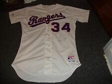 Nolan Ryan 1989 Game Issued used Texas Rangers 34 Jersey Signed RARE PSA