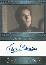 """Game of Thrones Season 4 - Tobias Menzies """"Edmure Tully"""" Autograph Card"""