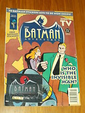 BATMAN ADVENTURES #8 BRITISH MONTHLY MAGAZINE 1993 INVISIBLE MAN WITH FREE GIFT^