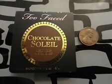 Too Faced CHOCOLATE SOLEIL Medium Deep Matte Bronzer * .08 oz Size * NWOB