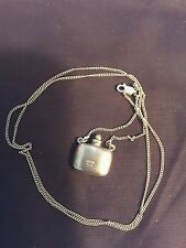 Vintage Sterling Silver Necklace with Sterling Silver Bottle Charm by Aveda