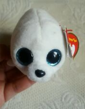 """Ty Beanie Slippery the Seal 4"""" Plush Toy - White • Pre-owned • Birthday 3-24"""