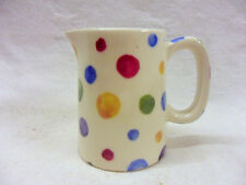 painted polka spots mini cream jug pitcher jug by Heron Cross Pottery