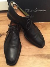 Oliver Sweeney Mens Rombo Black Formal Leather Shoe UK 8 EU 42 Made In Italy