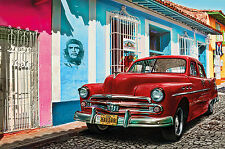 GREAT ART Oldtimer in Havanna Wanddekoration Wandbild Kuba Motiv XXL Poster