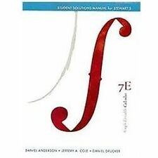 Student Solutions Manual for Stewart's Single Variable Calculus, 7th