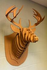 Taxidermy Full Size cardboard DEER HEAD Antlers,Crafts,Decor,3D,Hunting Puzzle