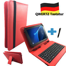 Deutsche Tastatur Hülle Blackberry Playbook 7 zoll Tablet Tasche Qwertz Rot