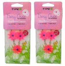 2 x Daisy Chain Car Air Freshener Floral Bouquet Scent Home Hanging Flower