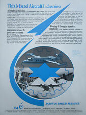 6/1972 PUB IAI ISRAEL AIRCRAFT INDUSTRIES ARAVA COMMODORE MISSILE ORIGINAL AD
