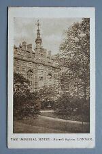 R&L Postcard: The Imperial Hotel Russell Square London PU 1912? Dore Sheffield