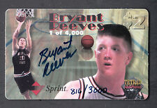 Bryant Reeves 1995 Signature Rookies Tetrad Auto Phonex Autographed Phone Card