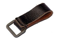 Original WW2 German Army Black Leather Belt Loop d-ring carry support WWII