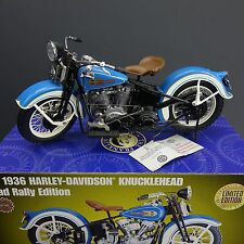 Franklin Mint 1936 Harley Davidson Knuckle Head Road Rally Edition Die Cast 1:10