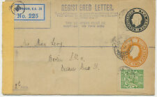 "2441 ""CLERKENWELL GREEN / E.C."" rare thimble (20 mm) censored GV compound RCover"