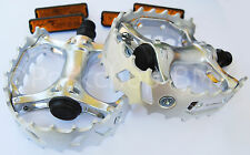 "Old school BMX XC-II VP-747 bear trap pedals 1/2"" (FOR ONE PIECE CRANKS) SILVER"