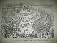 CASTRES CHAMP DE TIR DU CAUSSE STATUE NAPOLEON  COLONNE VENDOME GRAVURES 1876