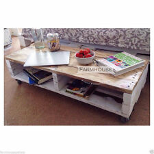 "Farmhouse Style Pallet Coffee Table ""TURVAS"" Shabby Chic Industrial Reclaimed"