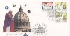 ENVELOPPE VISITE DU PAPE JEAN PAUL II / POSTE VATICANE / 1996