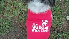 """dog shirt/tanktop,Christian,Ruff Ruff and Meow red,large,""""Walking with Christ"""""""