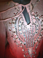Victoria's Secret Ludi Ombre Embellished Jeweled Tunic Blouse SMALL