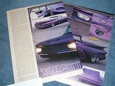 """1959 El Camino Full Custom Suede Article """"59 El Camino"""""""