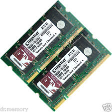 1 GB (2 X 512 MB) Ddr-333 Pc2700 Laptop (SODIMM) Memory RAM KIT OS a 200 pin