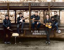 """The Beatles John Lennon, Paul McCartney, George Harrison Pete Best 11 x 8.5"""""""