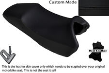 BLACK STITCH CUSTOM FITS HONDA X11 CB 1100 SF 99-03 DUAL LEATHER SEAT COVER