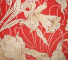 BEAUTIFUL 19th CENTURY FRENCH LINEN & COTTON, FLOWERS, REF PROJECTS