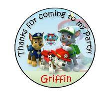 24 PAW PATROL PERSONALIZED BIRTHDAY THANK YOU FOR COMING PARTY STICKERS FAVORS