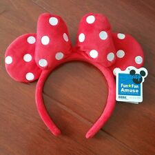 NEW Disney Parks Minnie Mouse Red Dot Ears Bow Headband Party Costume Ears