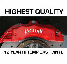 JAGUAR HI - TEMP CAST 12 YEAR VINYL BRAKE CALIPER DECALS STICKERS