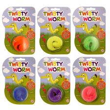 Magic Twisty Worm Wiggly Trick Furry Toy Party Bag Fillers Children Wiggle Kids