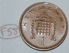 1980 Great Britain 1 New Penny UK Coin KM# 915 Lot #F58