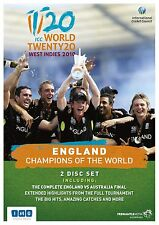 WORLD TWENTY 20 WEST INDIES 2010 ENGLAND CHAMPIONS OF THE 2 X DVD NEW CRICKET