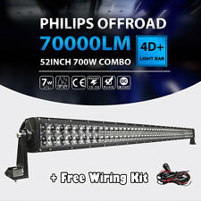 "52""inch 700W Offroad LED Straight Work Light Bar Fit For Jeep Wrangler JK TJ YJ"